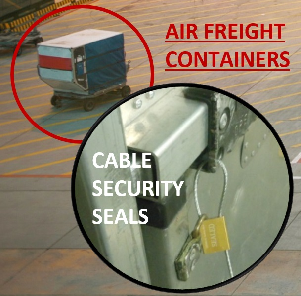 Sealing air cargo containers