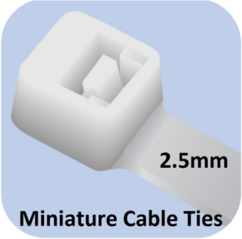 Picture of Miniature Cable Ties (2.5mm width)