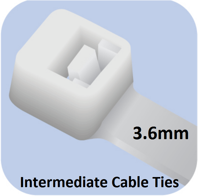 Picture of Intermediate Cable Ties (3.6mm width)