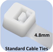 Picture of Standard Cable Ties (4.8mm width)