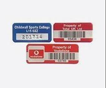 Picture of Anodised Aluminium Asset Labels