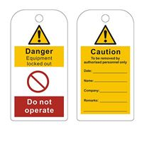Picture of Safety Warning Tag - Equipment Locked Out