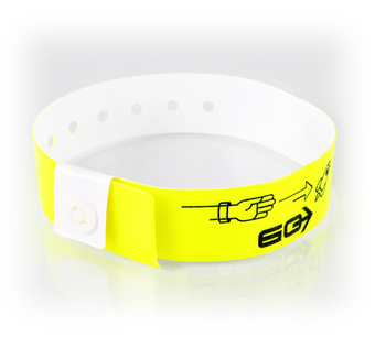 Picture of Customised L-Shaped Vinyl Wristbands