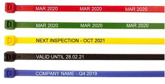 Picture of 'Next Inspection Due' Cable Ties