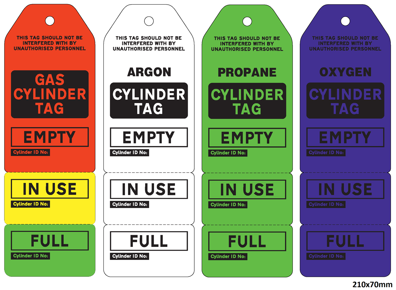 Picture of Durable Gas Cylinder Tank Tags
