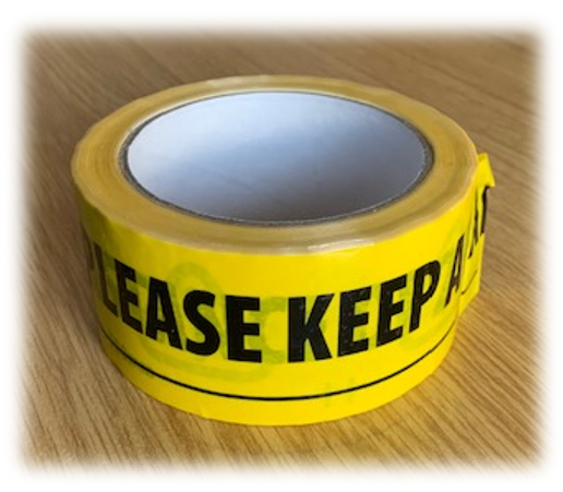 Picture of Social Distancing Warning Tape