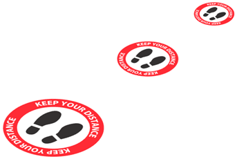 Picture of Social Distance Floor Stickers