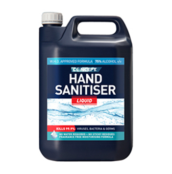 Picture of WHO formulation 75% alcohol liquid hand sanitiser