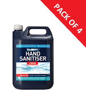 Picture of WHO-approved 5 Litre Hand Sanitiser (Pack of 4), 75% Alcohol