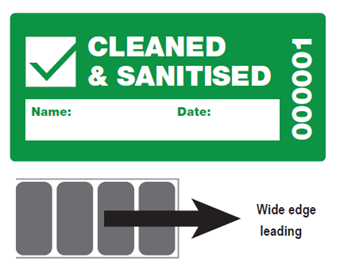 Picture of Cleaned & Sanitised Security Labels