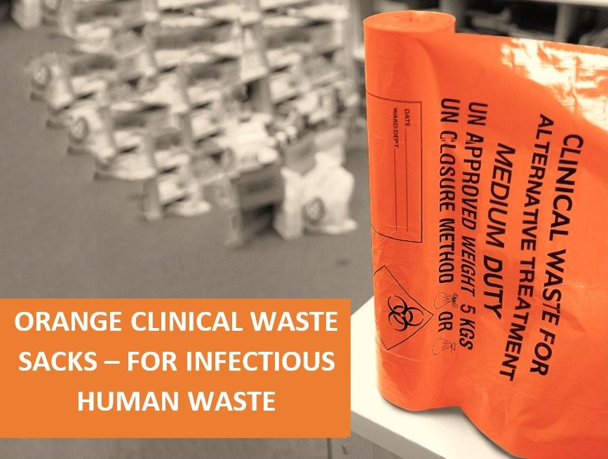Picture of Orange Clinical Waste Sacks