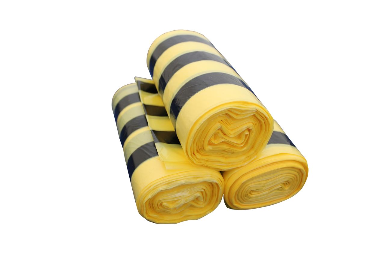 Picture of Tiger Stripe Clinical Waste Sacks