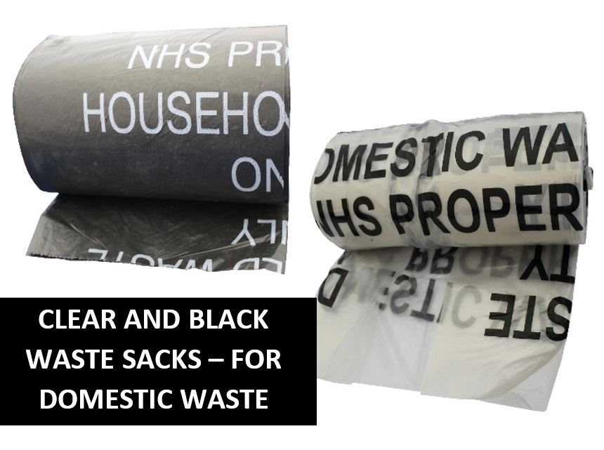 Picture of Clear and Black Domestic Waste Sacks