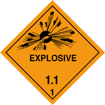Picture of HazChem / Dangerous Goods Labels